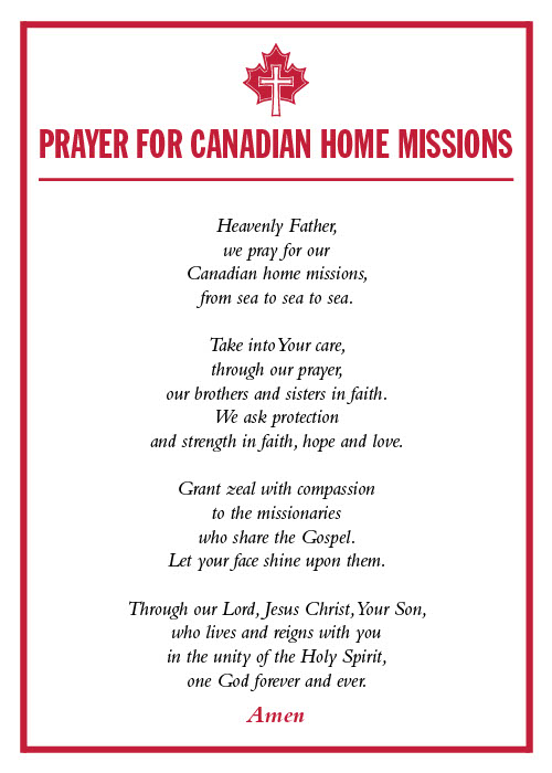October 2019_Revised English Prayer Card