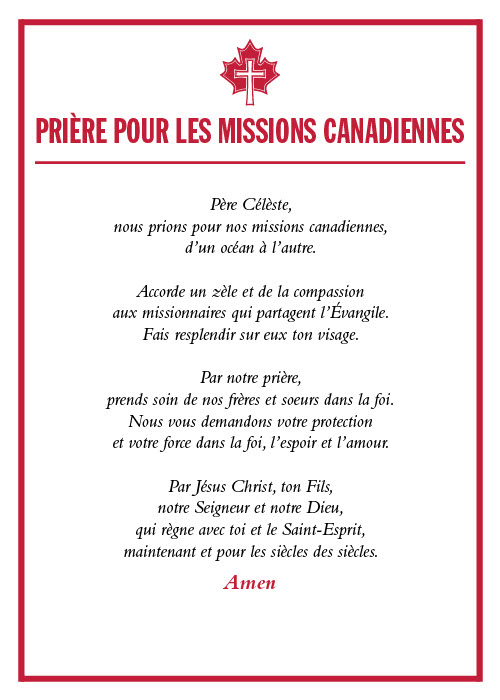 October 2019_Revised French Prayer Card